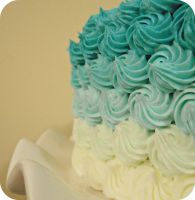 Ombre Rosette Cake by cake4thought