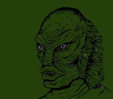 Creature from the black lagoon by Lukeforadventure