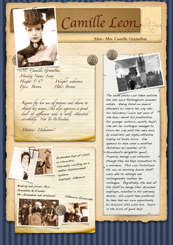 Research notes on Camile Leon by TWCBS