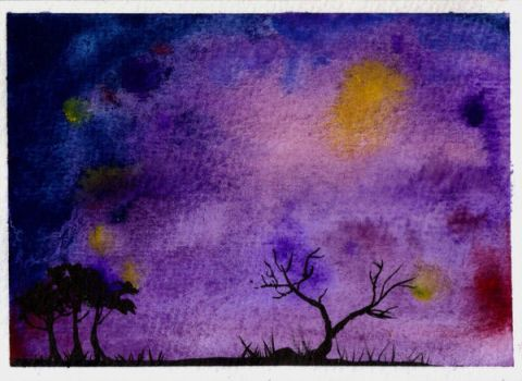 ACEO 001: Outcast by PurpleColorDrop