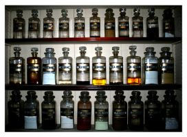 Pharmacy bottles 1. by MadMasquerade