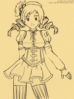 [sketch] Tomoe Mami by izka197