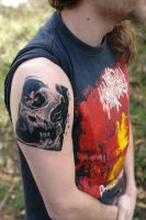 skull tat..... by RGarabal