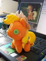 Applejack filly  plushie revisited by haiban