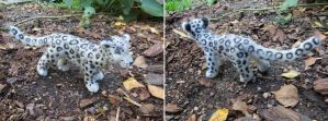 Needle felted Snow leopard by Halwen
