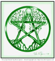 Tree of Life Pentacle by reyahawk