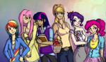 Mane Six by chipperpony