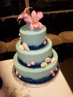Wedding Cake - Ocean a Flowers by kgc-inusan