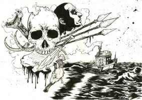 Heart of Darkness A3 ink by IgorChakal
