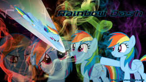 Rainbow Dash Smoke Wallpaper by brightrai
