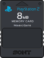 Sony PlayStation 2 Memory Card by BLUEamnesiac