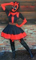 Sailor Senshi Deadpool Cosplay Pinafore by DarlingArmy
