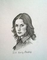 Emily Prentiss sketch by AetheriumDreams
