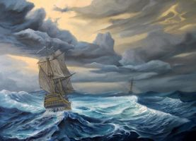 - The Coming Storm -    oil paint  50x70sm by StanislavSvetlozarov