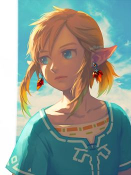 BotW Link by bellhenge