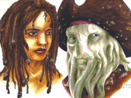Tia Dalma+Davy Jones by DayDawnDusk