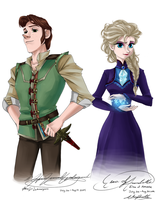 Hans and Elsa by ARSugarPie