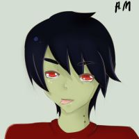 Fan Art!~ Marshall lee by xPandaMandax