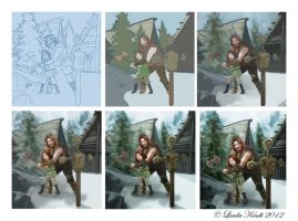 Making Of: Dovahkiin-in-training by Isriana