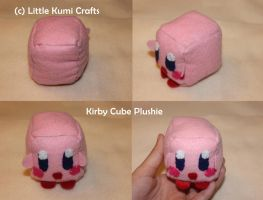 Kirby Cube  Plushie by lkcrafts