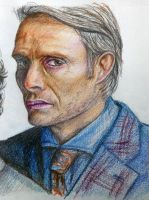 Mads Mikkelsen from the TV show Hannibal by shezzor