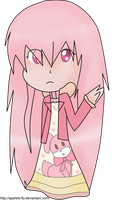 a pink chiribi (for the WTA/DTA Selfy adopts) by sparkle-fly