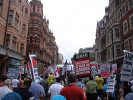 London Protest by Free-Palestine