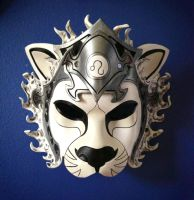 Leo Zodiac Lion Leather Mask by b3designsllc