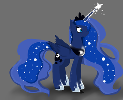 Princess Luna by JustWestOfWeird