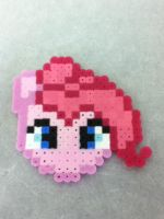 -Perler- Pinkie Pie Head by OtakuLuka
