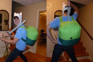 Adventuretime Finn Costume by Kritzmire