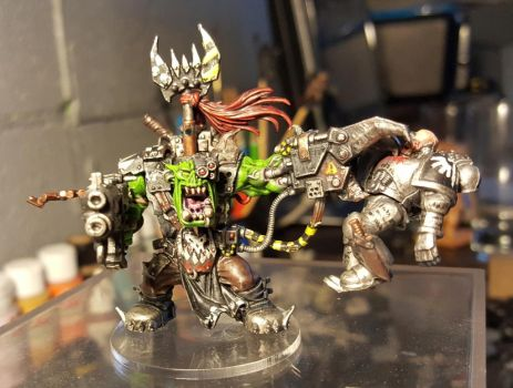 Finished Ork Warboss by evldemon