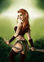 Tauriel pin up by steve-o-o-c
