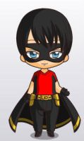 Robin(Dick)Chibi. by youngjusticewriter