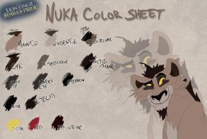 Nuka color sheet by Takadk