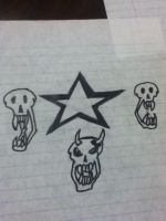 3 Skulls and a Star 2 by Wallsofjericho316