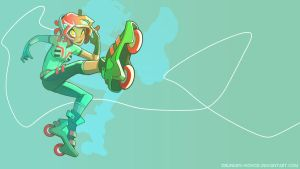 Roller Gal by Drunken-Novice