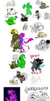 Giant League of Legends doodle dump by MissyZero