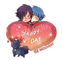 -- Aoba and Koujaku Valentine's Day -- by Kurama-chan