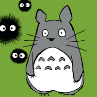 Totoro and Soot Sprites by Cartoonsforever