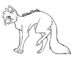 Cat Lineart Free to use by KryptoniteRogue