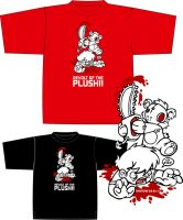 Revolt Of the Plush Tshirt by cronobreaker
