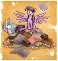 FOR THE BOOK HOARD! by TheUnununium