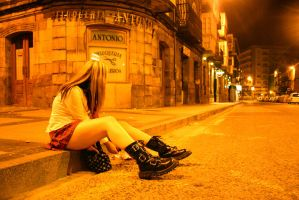 In the street...alone by Psicotico