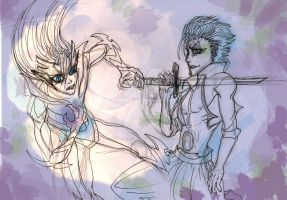 Grimmjow The Final Moments by mdragonheartlove
