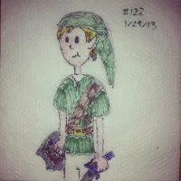 Napkin Art 122 - Lanky Link - Legend of Zelda by PeterParkerPA