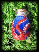 octopus tentacle mini bottle! by CreaturesofNat
