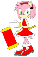 Amy Rose by BlakJakXXI