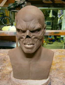 The Red Skull Sculpt Finished 1 by XtcofPain