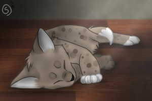 Sleeping Kitten by InkQueenPilus